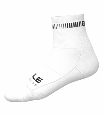 ALÉ LOGO Q-SKIN SOCKS White/Black L20946819