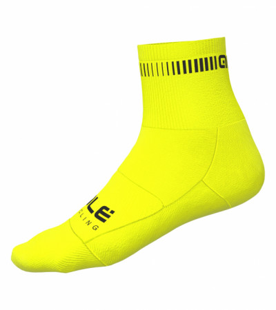 detail ALÉ LOGO Q-SKIN SOCKS Fluo Yellow/Black L21053719