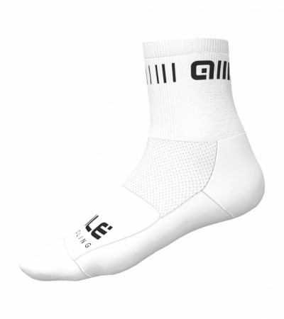 detail ALÉ STRADA Q-SKIN SOCKS White/Black