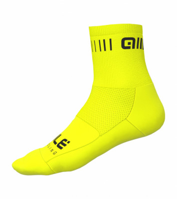 ALÉ STRADA Q-SKIN SOCKS Fluo Yellow/Black