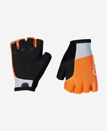 detail POC ESSENTIAL ROAD MESH SHORT GLOVE Granite Grey/Zink Orange