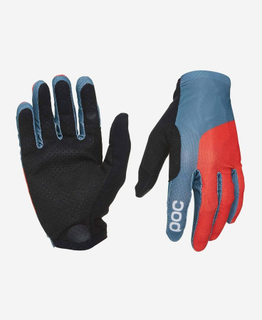 detail POC ESSENTIAL MESH GLOVE Cuban Blue/Prismane Red