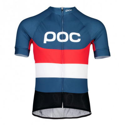 POC ESSENTIAL ROAD LOGO JERSEY Prismane Multi Red