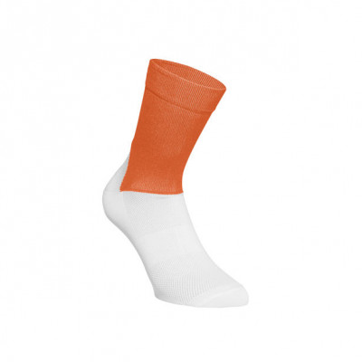 POC ESSENTIAL ROAD SOCKS ZINK ORANGE/H. WHITE